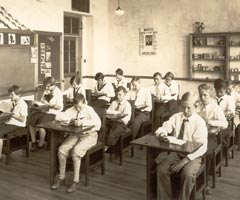 Classroom photo taken in the late 1920's